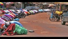 Muslims praying in Gambia