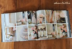 Dear Lillie: Making a Photo Book -birthday party details Wedding Photo Books, Wedding Photo Albums, Wedding Book, Photography Lessons, Book Photography, Photography Business, Photoshop Book, Make A Photo Book, Foto Online