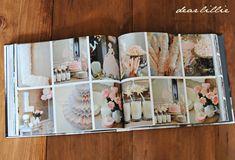 Dear Lillie: Making a Photo Book -birthday party details Wedding Photo Books, Wedding Photo Albums, Wedding Book, Photography Lessons, Book Photography, Photoshop Book, Make A Photo Book, Wedding Album Design, Dear Lillie