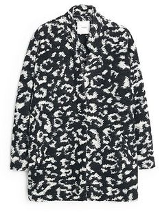 Womens black and white trench coat from Mango - £79.99 at ClothingByColour.com