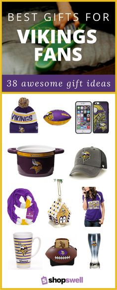 43 of the best Minnesota Vikings merchandise, accessories and clothing every football fan would enjoy.