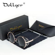 $19.53 (Buy here: https://alitems.com/g/1e8d114494ebda23ff8b16525dc3e8/?i=5&ulp=https%3A%2F%2Fwww.aliexpress.com%2Fitem%2FSteampunk-sunglass-designer-circulo-retro-vintage-round-sunglasses-steam-punk-Men-women-top-brand-designer-glasses%2F32688424702.html ) Dollger Steampunk Sunglasses Men Women Vintage Retro Goggles Round Glasses Fashion Sunglasses Uv400 Gothic Round Sunglasses DG17 for just $19.53