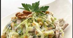 Merhaba, Tavuklu salata için malzemelerimiz; • 1 adet küçük marul ya da göbek salata • 5-6 dal maydanoz • 1 adet haşlanmış ve ufak didiklenm... Cabbage, Vegetables, Food, Essen, Cabbages, Vegetable Recipes, Meals, Yemek, Brussels Sprouts