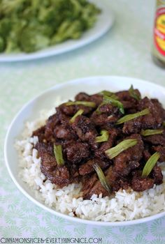 Mongolian Beef: Made with following changes: 1/2 tsp ground ginger, 1 tsp beef bouillon, 2 tsp rice vinegar, 2 tsp chili paste. Holy Hannah delicious