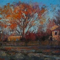 """Margi Lucena - Pastel Painting - """"End of the Day Taos"""" ~ x Her work can be viewed in Texas at RS Hanna Gallery - 208 South Llano St. Landscape Artwork, Best Artist, Main Street, Art Pieces, Fine Art, Gallery, Drawings, Painting, Inspiration"""