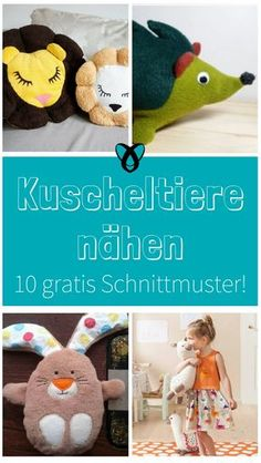 10 free sewing patterns for cuddly toys - Free sewing patterns stuffed animals sew free freebies for children babies gift gift idea sewing id - Sewing Patterns Free, Free Sewing, Free Pattern, Sewing Toys, Diy Bebe, Animal Pillows, Diy Pillows, Diy Stuffed Animals, Fabric Crafts