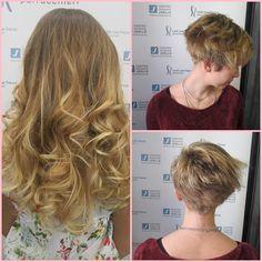 Tagli di capelli corti prima e dopo