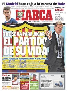 Los Titulares y Portadas de Noticias Destacadas Españolas del 20 de Julio de 2013 del Diario Deportivo MARCA ¿Que le pareció esta Portada de este Diario Español?