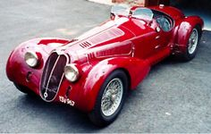 The Alfa Romeo 8C 2900B was built from 1935 to 1939 in Italy with a 2,905 cc DOHC Straight Eight and had a top speed around 120mph.