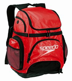 Speedo Pro Backpack best bag for swimmers! Only $45 at swimoutlet.com. Lots of colors. Holds all your swim gear!