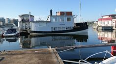 Our houseboat in Stockholm