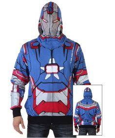 Iron Patriot I Am Marvel Hooded Sweatshirt
