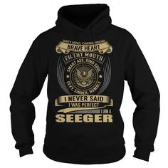 Awesome Tee SEEGER Last Name, Surname T-Shirt T shirts