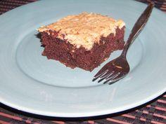 German Chocolate Zucchini Cake Shared on https://www.facebook.com/LowCarbZen   #LowCarb #Cake #Chocolate #Dessert
