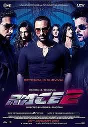 Race 2 is about a guy who comes for revenge and how different types if people plot against each other for money an amazing movie