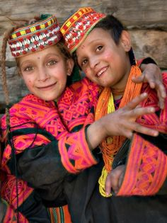 Kalash girls, Afghanistan. Afghanistan forms part of south, central, and to some  extent west Asia.