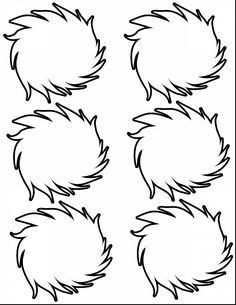 Dr Seuss Coloring Pages Lorax Dr. Seuss, Dr Seuss Week, Der Lorax, Dr Seuss Coloring Pages, Truffula Trees, Lorax Trees, Dr Seuss Birthday Party, 2nd Birthday, Birthday Ideas