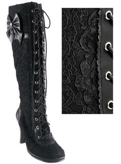 The Violet Vixen - Ribbons N'Lace Love Boots, $128.00 (http://thevioletvixen.com/shoes/ribbons-nlace-love-boots/)