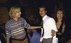 "Geena Davis, Brad Pitt & Susan Sarandon at the premiere for ""Thelma & Louise"" Susan Sarandon, Brad And Jen, Brad And Angelina, Geena Davis, Thelma Y Louise, Louis Walsh, Robin Givens, Tommy Pickles, Brad Pitt Photos"