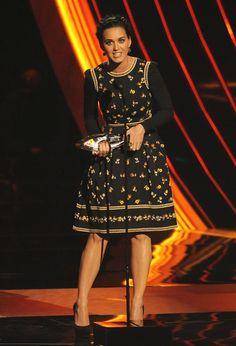 Katy Perry estaba la mar de guapa con un vestido con florecitas de Valentino