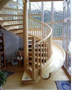 I would like at least one slide in my house :)