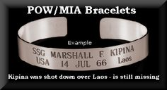 POW/MIA Bracelets - If you still have one, or you remember the name, look up the soldier who served. I recently was able to contact the man whose name was on my bracelet. Happily, he made it back to his family (many did not). It meant a lot to him, knowing that people were thankful for his service to our country and that he had not been forgotten.