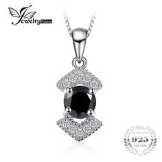Cheap wedding wedding, Buy Quality wedding gift directly from China wedding black Suppliers: JewelryPalace Elegant Genuine Black Spinel Pendnat Necklace 925 Sterling Silver Fine Jewelry Bestfriend Gift Without Chain New Black Spinel, Best Friend Gifts, Sterling Silver Pendants, Elegant, Jewelry Accessories, Fashion Accessories, Jewelery, Jewelry Watches, Fine Jewelry