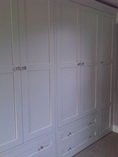 Doors and drawer fronts combined as the exterior of wardrobe www.fittedbespokefurniture.co.uk