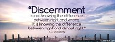 "What exactly is discernment? It means ""to distinguish, to separate out by diligent search, to examine."" Search…examine… ""Now these Jews were more noble than those in Thessalonica; they received the word with all eagerness, examining the Scriptures daily to see if these things were so."" (Acts 17:11, emphasis added) The Berean Christians didn't take Paul's …"