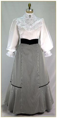 Stripe Peplum Skirt, Style #090-S