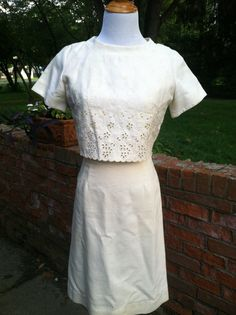 Vintage Textured Two Piece Eyelet Jacket With by PDeeVintage