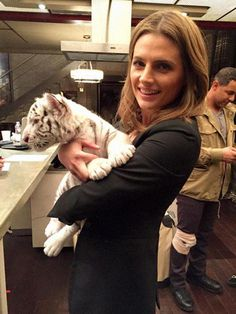*whispers* my beautiful little nerd finally got to pet the tiger