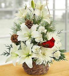 Shop Christmas flowers & gifts for delivery to celebrate the season! Find beautiful Christmas floral arrangements and holiday flowers. Winter Floral Arrangements, Christmas Flower Arrangements, Christmas Flowers, Winter Flowers, Christmas Centerpieces, Christmas Wreaths, Christmas Decorations, Xmas, Christmas Candles