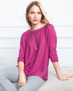 Boxy Oversized Sweater however NOT in this color - like the shape don't do pink