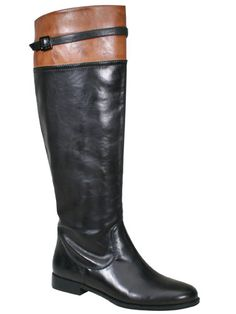 Tall boots ~ love, love, love the two tone
