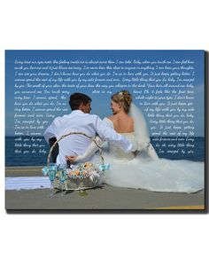 Personalized Rustic Wedding Anniversary Canvas