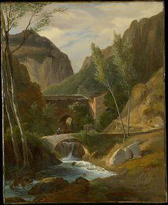 The Gorges at Amalfi  Antoine-Félix Boisselier (French, Paris 1790–1857 Versailles)  Date: 1811?