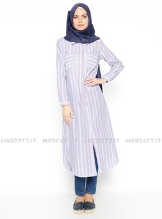 islamische kleidung fuer frauen mymodestystyle.com besuchen sie unsere shop #hijab #abayas #tuekische kleider #abendleider #islamischekleidung  Striped Tunic - Blue - Red - Almera - <p>Fabric Info:</p> <p>100% Linen</p> <br> <p>Weight: 0.22 kg</p> <p>Measures of 38 size:</p> <p>Height: 122 cm</p> <p>Bust: 94 cm</p> <p>Waist: 90 cm</p> <p>Skirt Width: 122 cm</p> - SKU: 224656. Buy now at http://muslimas-shop.com/striped-tunic-blue-red-almera.html