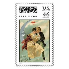To My Valentine Couple On The Moon Stamp