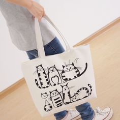 Now available on our store: New Cartoon Cats ... Check it out Here! http://eshoping-cart.myshopify.com/products/new-cartoon-cats-printed-shopping-tote-bag?utm_campaign=social_autopilot&utm_source=pin&utm_medium=pin