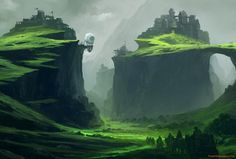 Fortresses on cliffs wallpaper