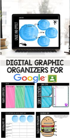 30 Digital Graphic Organizers to use with your Google Classroom! Check one out here for FREE!