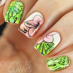 Tropical Nail Stamping
