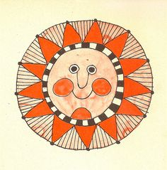 Sun illustrated by Lionel Kalish.