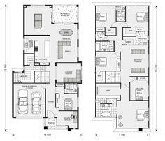 7 Modern House Plans Samples – Modern Home 6 Bedroom House Plans, Family House Plans, Best House Plans, Dream House Plans, House Floor Plans, Home Decor Bedroom, Bedroom Ideas, Double Storey House Plans, Double Story House