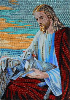 Glass Mosaic Icon - Portrait of Jesus Christ