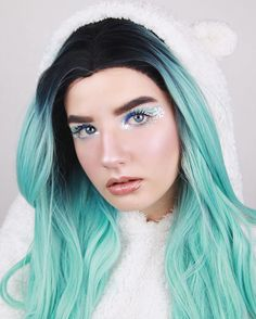 SKU: SN2-C133 MODEL: @vladaae #makeupbyvladaae #christmas2020  #100daysofmakeupchallenge #newyear2020 #christmasmakeup #snowymakeup  #creativemakeup #wintermakeup#wig#evahairofficial Synthetic Lace Front Wigs, Synthetic Wigs, Makeup Challenges, Winter Makeup, Christmas Makeup, Creative Makeup, Cute Outfits, Skin Care, Model