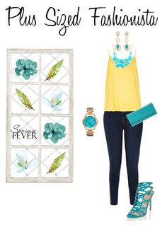 """Spring Date: Pretty Plus-Size Style"" by campanellinoo on Polyvore featuring River Island, HOBO, Emi Jewellery, Michael Kors and Ballard Designs"