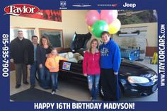 Happy 16th Birthday Madyson! We hope you had an amazing birthday! Enjoy your convertible!