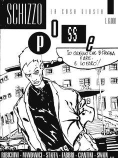 Schizzo Posse n. 1 - Novembre 1993 Centro Andrea Pazienza Immagine Maurizio Ribichini Comic Art, Comics, Comic Book, Comic, Cartoon Art, Comic Books, Graphic Novels